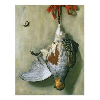 Cartão Postal Trompe - l ' oeil com perdiz, 1666