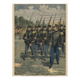 Cartão Postal Tropas da elite do exército francês
