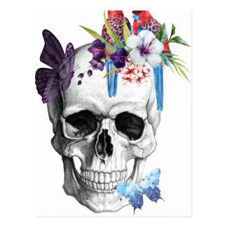 Cartão Postal Tropical mau do paraíso da morte do crânio de