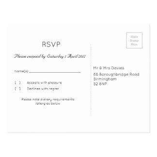"""Cartão Postal Trufa """"árvore"""" RSVP Wedding"""