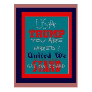 Cartão Postal Trunfo dos EUA você é contratado! Unido nós