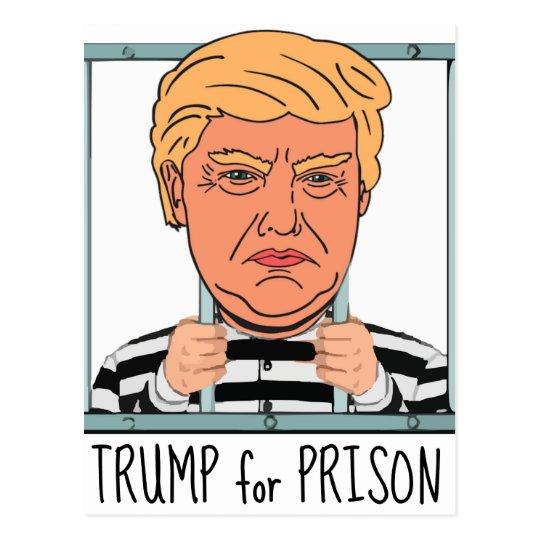 Cartão Postal Trunfo irritado para a prisão