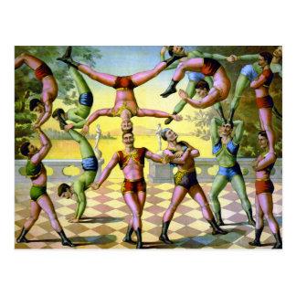 Cartão Postal Trupe das acrobatas masculinas