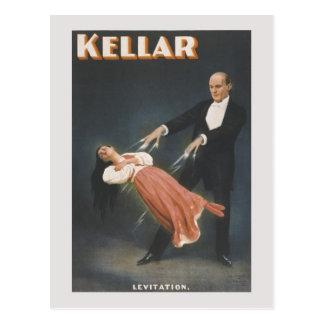 Cartão Postal Truque mágico do vintage: levitação
