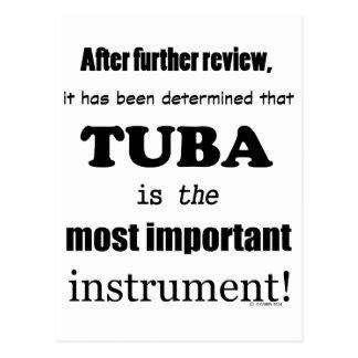 Cartão Postal Tuba a maioria de instrumento importante