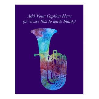 Cartão Postal Tuba de Colorwashed