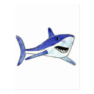 Cartão Postal Tubarão de Mako