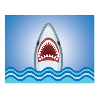 Cartão Postal Tubarão engraçado