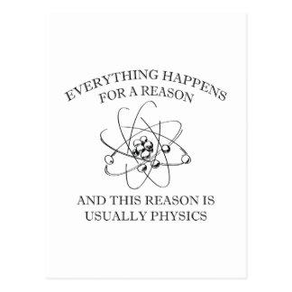 Cartão Postal Tudo acontece para uma razão