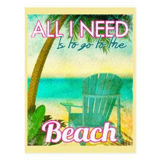 Cartão Postal Tudo que eu preciso é ir à praia