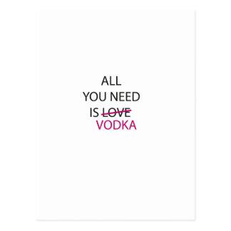 Cartão Postal tudo que você precisa é vodka.ai