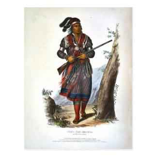 Cartão Postal Tuko-Veja Mathla um chefe do Seminole