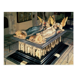 Cartão Postal Túmulo de John o sem medo e a Margaret de