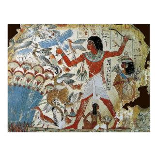 Cartão Postal Túmulo de Nebamun: Fowling