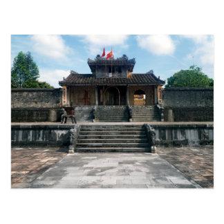 Cartão Postal Túmulo imperial do imperador Thieu tri, matiz,
