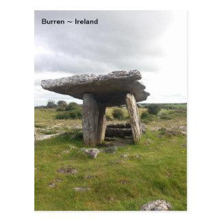 Cartão Postal Túmulo portal de Poulnabrone, Burren, Clare,