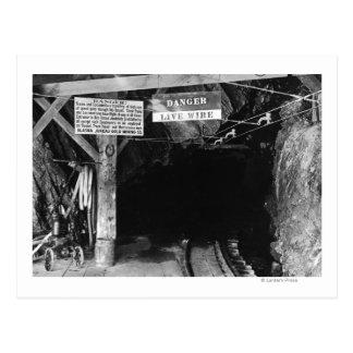 Cartão Postal Túnel mina de Juneau, Alaska Treadwell