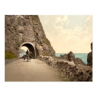 Cartão Postal Túnel preto da caverna, Co Antrim