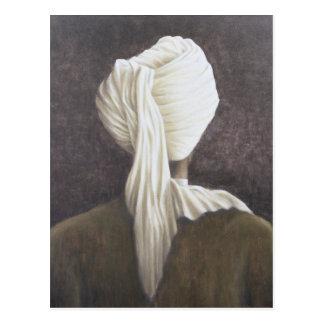 Cartão Postal Turbante branco 2005