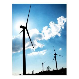 Cartão Postal Turbina eólica