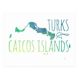 Cartão Postal Turcos & Caicos
