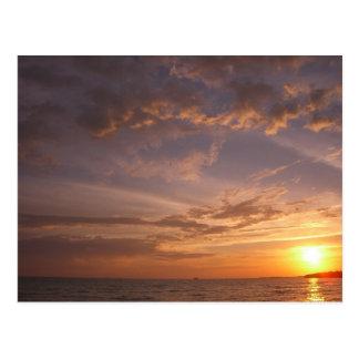Cartão Postal Turcos e Caicos da baía V Providenciales do por do