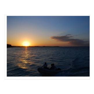 Cartão Postal Turcos e por do sol de Caicos