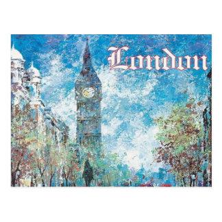 Cartão Postal turismo retro Big Ben do vintage de Londres