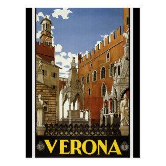 Cartão Postal Turismo retro do viagem de Verona Italia do