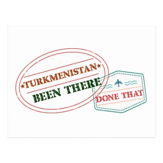 Cartão Postal Turkmenistan feito lá isso