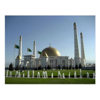 Cartão Postal Turkmenistan - Turkmenbashi Ruhy Mosque