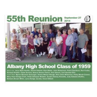 Cartão Postal Turma da escola secundária de Albany de 1959 -