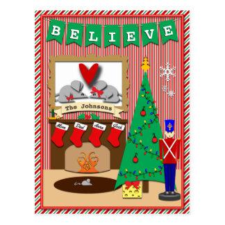 Cartão Postal Twas a noite antes do Natal • 4 meias