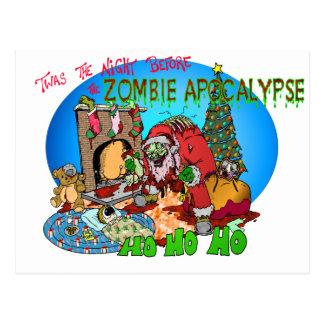 Cartão Postal Twas a noite antes dos zombis
