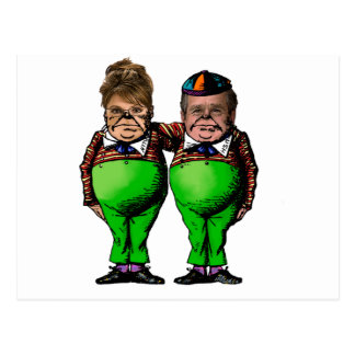 Cartão Postal Tweedles Palin & Bush