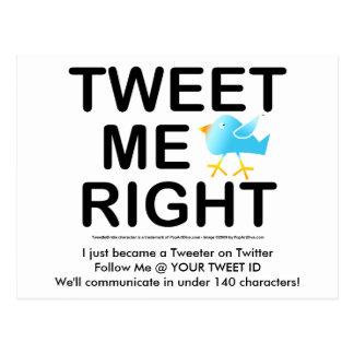 Cartão Postal Tweet eu WHT2228 direito