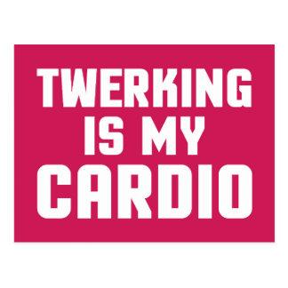 Cartão Postal Twerking é minhas cardio- citações engraçadas do