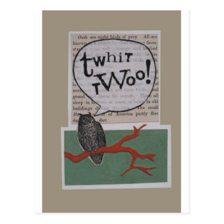 Cartão Postal twhit-twoo