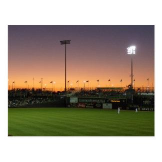 Cartão Postal Twlight do basebol