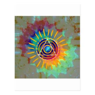 Cartão Postal Tyedye espiritual