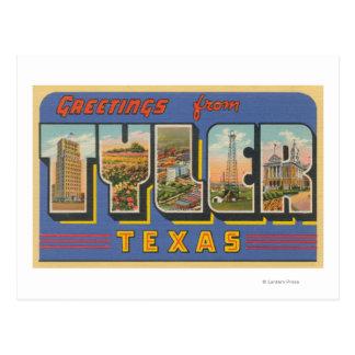 Cartão Postal Tyler, letra ScenesTyler de TexasLarge, TX
