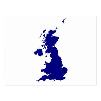 Cartão Postal U.K. e silhueta de Irlanda do Norte