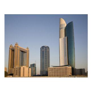 Cartão Postal UAE, Dubai. Torre e outro do lugar do parque