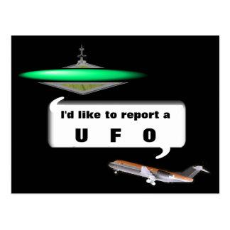 CARTÃO POSTAL UFO