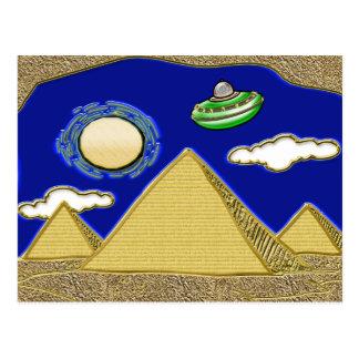 Cartão Postal UFO sobre Egipto