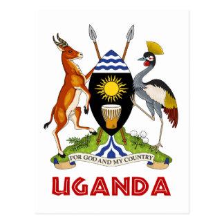 Cartão Postal UGANDA - bandeira/emblema/brasão/símbolo