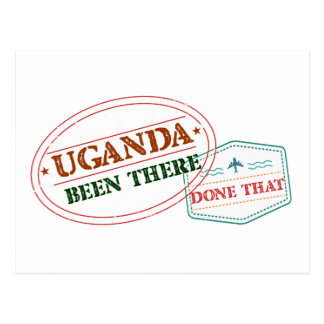 Cartão Postal Uganda feito lá isso