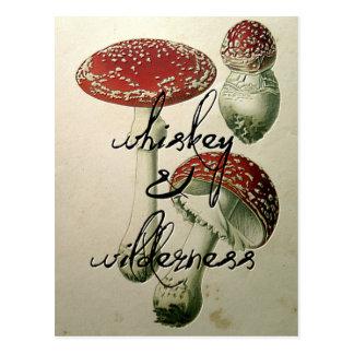 Cartão Postal Uísque & cogumelo da região selvagem