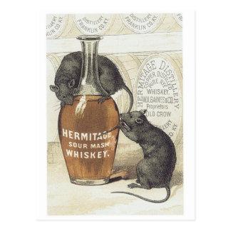 Cartão Postal Uísque de erva-benta ácida do eremitério