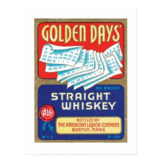 Cartão Postal Uísque dourado do hetero dos dias